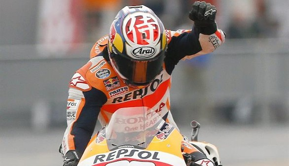 Rossi gana la batalla a Lorenzo y Pedrosa se supera