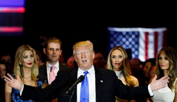 Trump, lanzado a la Casa Blanca tras su victoria en Indiana