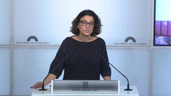 La portavoz parlamentaria del PSC, Eva Granados, este martes.