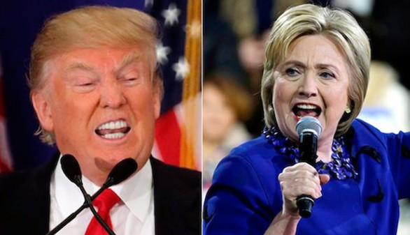 Trump se impondría a Clinton, según una encuesta