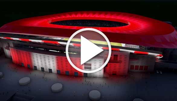 Así es el 'nuevo Calderón', el primer estadio iluminado íntegramente con LED