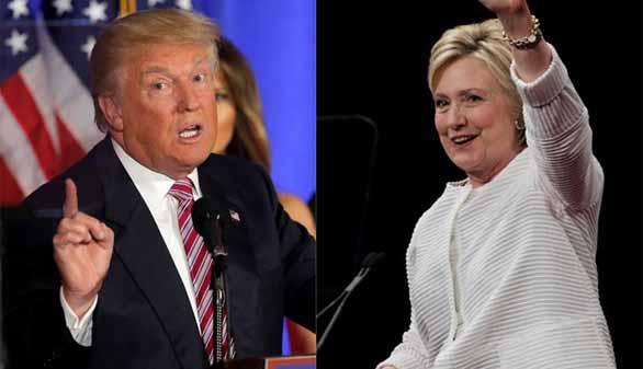 Clinton hace historia y Trump consuela a Sanders