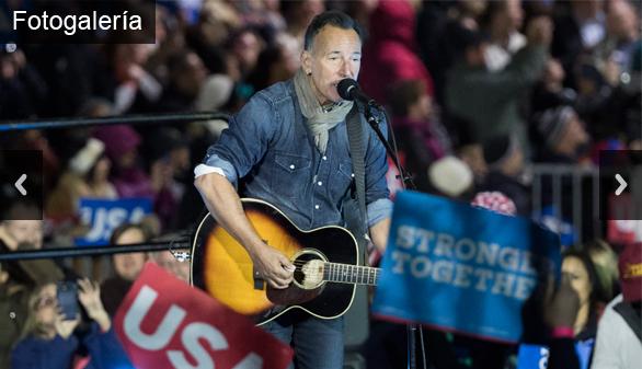 Springsteen, Lady Gaga y Obama, traca final de la campaña de Clinton