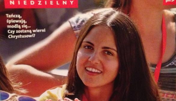 La española Alejandra Yanes, portada de la revista Gosc durante la JMJ