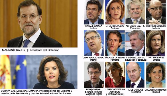 Rajoy mantiene el núcleo duro e incorpora seis caras nuevas