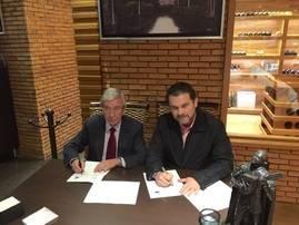 Rafael Ansón y Fernando Olivera Rocha, secretario de Turismo del Estado de Guanajuato.