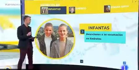 La hora de La 1 usa una foto de Leonor y Sofía para informar sobre las hermanas del Rey
