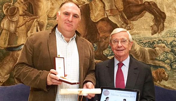 José Andrés, galardonado con el Premio al Mérito Turístico 2015