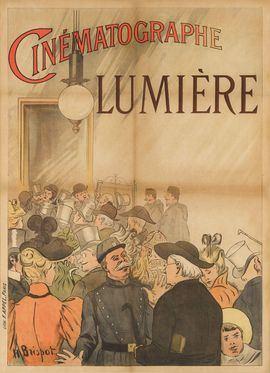 Cartel diseñado para promocionar la primera película de los hermano Lumière