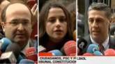Sánchez y Rivera intentan arrebatar a Rajoy la iniciativa del pacto por la unidad de España