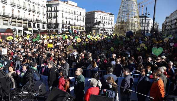 Miles de personas exigen en Madrid medidas urgentes contra el cambio climático