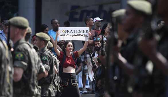 Multitudinaria manifestación contra Temer en Sao Paulo