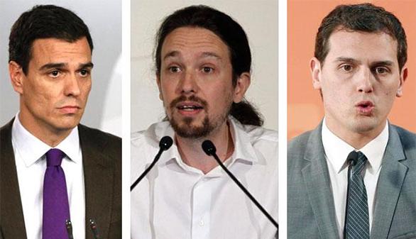 PSOE, Ciudadanos y Podemos se reunirán este jueves