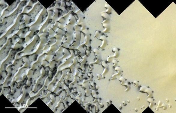 Captada una espectacular imagen de las dunas del polo norte de Marte