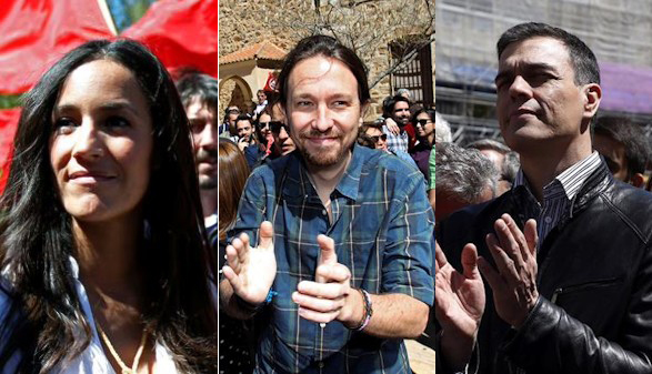 PSOE, Podemos y C's hacen del 1 de Mayo su primer acto electoral