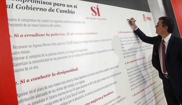 Sánchez promete someterse a una moción de confianza en dos años