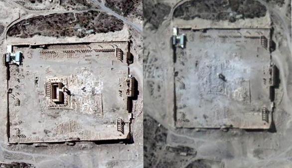 Estado Islámico dinamita el templo de Bel, en la ciudad siria de Palmira