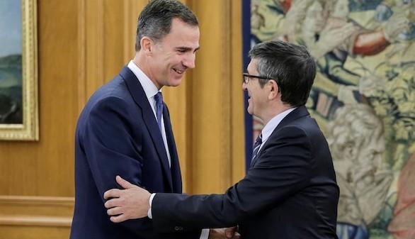 Patxi López comunica al Rey la nueva composición del Congreso