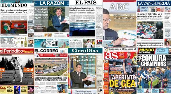 Revista de prensa: La receta de Rajoy para proteger la recuperación