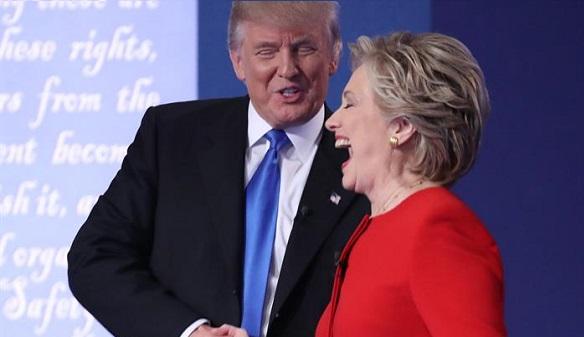 Clinton, armada con la calma, gana a Trump el primer cara a cara