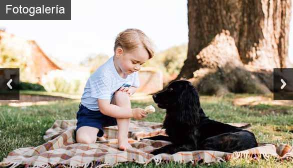 Sesión de fotos del príncipe Jorge para celebrar su tercer cumpleaños