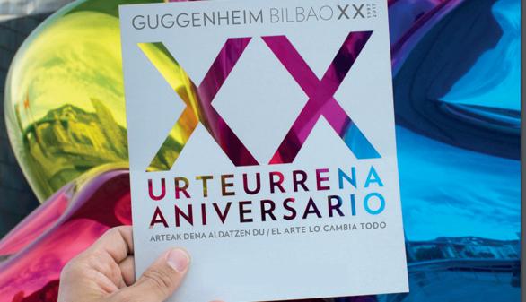 ¿Qué ver y hacer por el XX aniversario del Guggenheim?