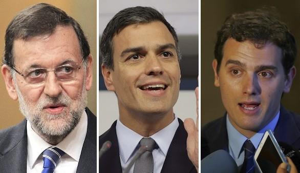 Rajoy, Sánchez y Rivera, juntos por la unidad de España