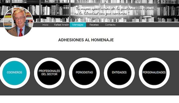 Homenaje a Rafael Anson por hacer de la gastronomía española