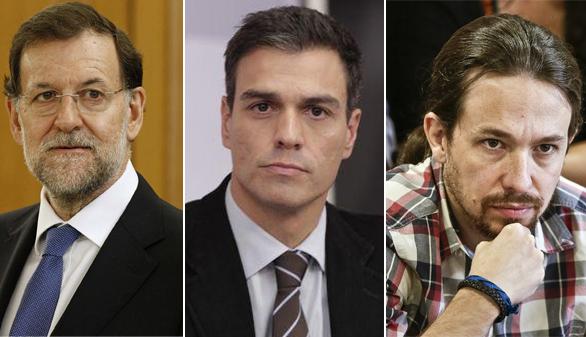 El Rey cierra su ronda de contactos con Iglesias, Sánchez y Rajoy