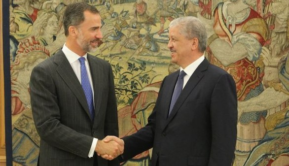 El Rey recibe al primer ministro argelino en Zarzuela