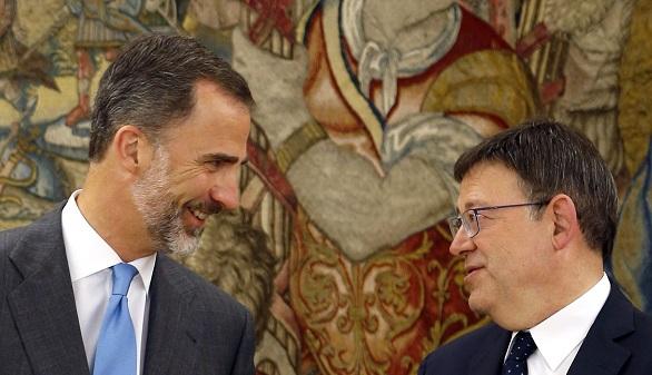 Puig defiende ante el Rey una reforma constitucional que regenere democracia