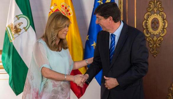 El PSOE-A acepta las condiciones de Ciudadanos para los Presupuestos