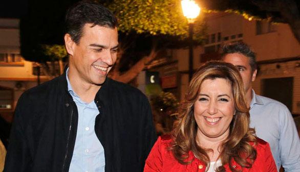 Díaz y Sánchez sonríen ante la campaña electoral
