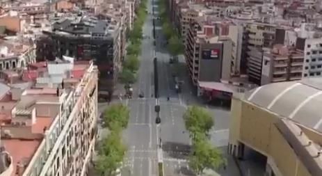 Roma, Madrid, Nueva York o Barcelona: ciudades desiertas a vista de pájaro