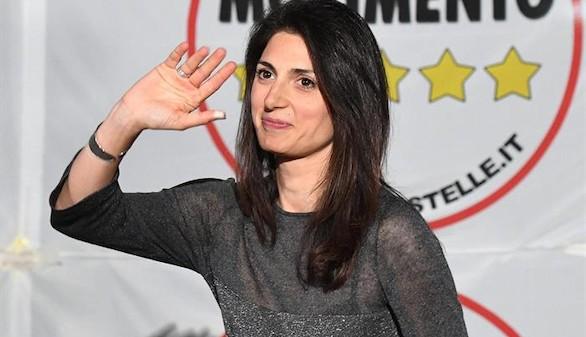 La candidata de 'los indignados' italianos le arrebata Roma a Renzi
