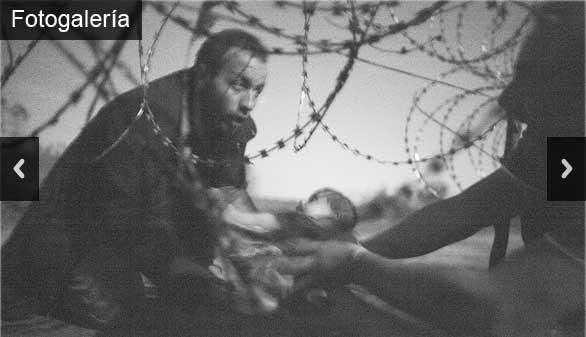 La fotografía de un bebé refugiado gana el World Press Photo