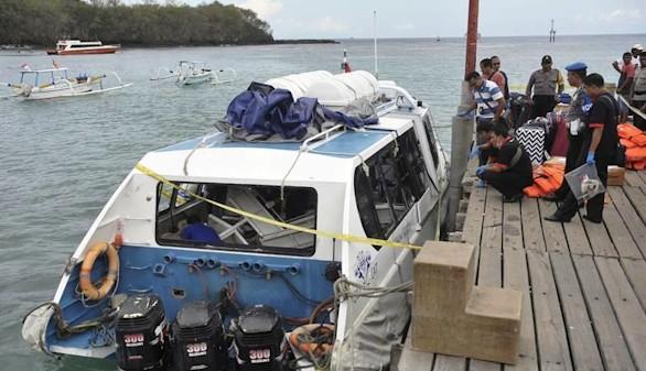 Una española muerta tras la explosión de un barco en Bali