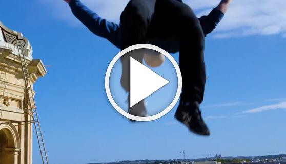 Vídeos virales. Acrobacias para llegar a trabajar