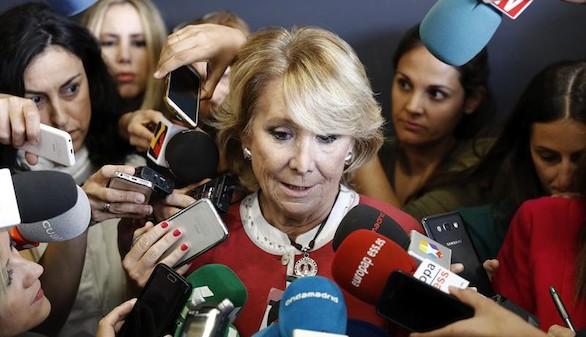El tercer adiós de la 'lideresa' Esperanza Aguirre