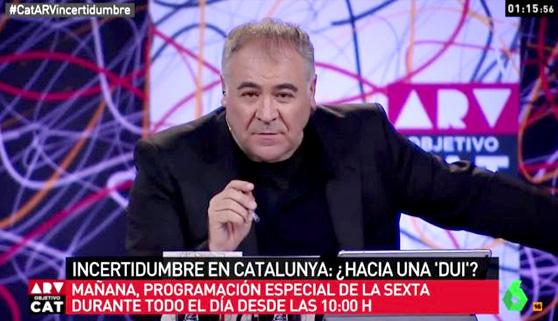 Audiencias. La Sexta, imparable con sus especiales de Cataluña