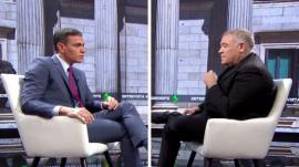 Antonio García Ferreras entrevistó a Pedro Sánchez en el especial 'Al rojo vivo: entrevista al presidente'.