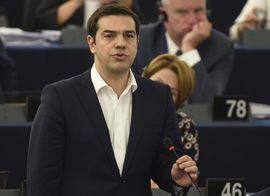 Alexis Tsipras, ante la Eurocámara. Efe