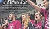 El asalto de las CUP al PP con Puigdemont en Washington