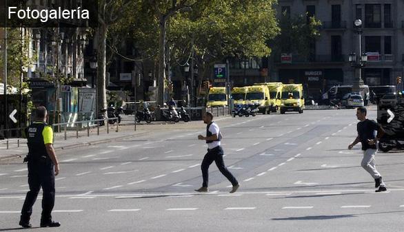 Galería de imágenes. Atentado en Barcelona