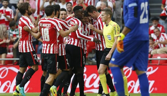El Athletic supera al Sevilla y se mete en zona Champions  3-1