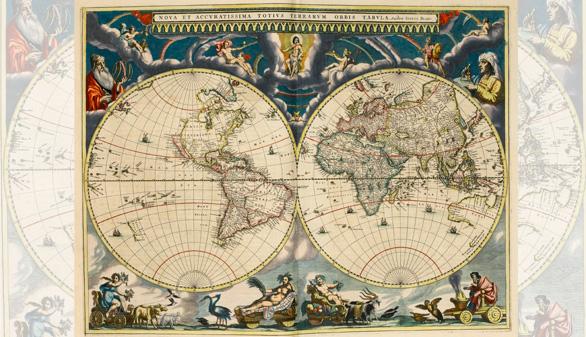 A subasta el atlas más lujoso de la historia de los mapas impresos