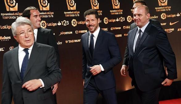 El Atlético de Madrid, gran triunfador en los premios de la Liga