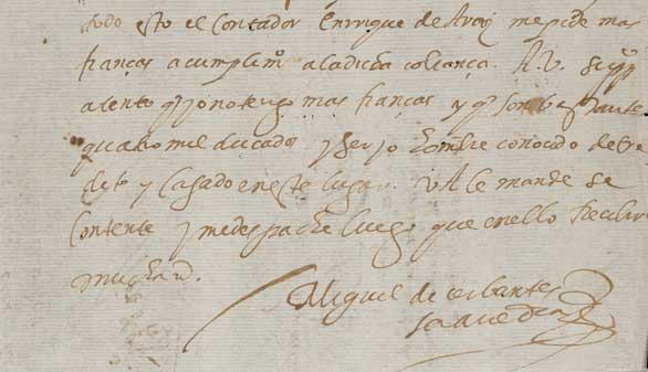 La Biblioteca Nacional muestra por primera vez los 11 autógrafos de Cervantes