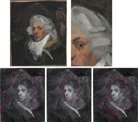 Estudio de 'Autorretrato con peluca', de Picasso. Universidad de Barcelona