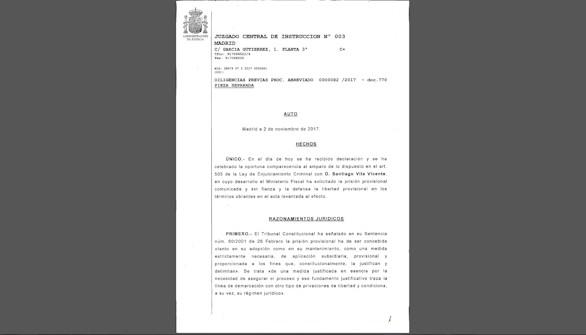 La juez considera la huida de Puigdemont motivo para la prisión de los exconsejeros